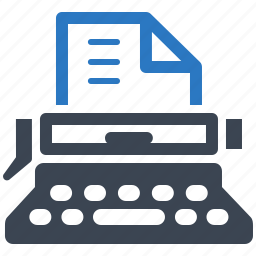 article, office supplies, typewriter, typing machine icon