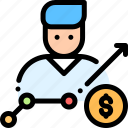 dolor, increase, money, pay, salary icon