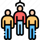 employee, man, process, selection icon