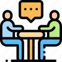 chat, conversation, interview, meeting icon