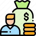 coin, money, payment, salary icon