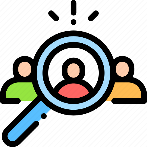 employee, human resource, job, recruitment, search icon