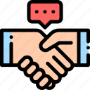 business, contract, deal, handshake, partner icon
