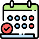 appointment, calender, date, meeting, timetable icon
