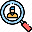 business, employee, job, office, recruitment, search icon
