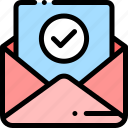 approval, business, envolop, letter, office icon