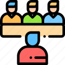 employee, interview, meeting, staff icon