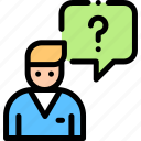 application, chat, staff, uniform icon
