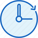 clock, office, work icon