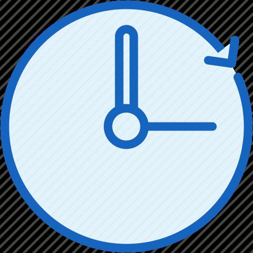 clock, office, work icon