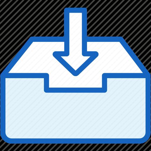 inbox, mail, office, work icon