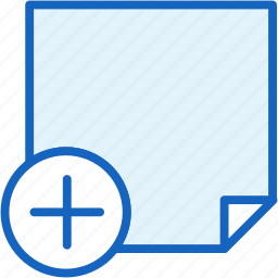 add, office, paper, work icon