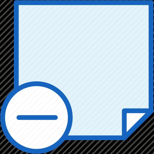 minus, office, paper, work icon