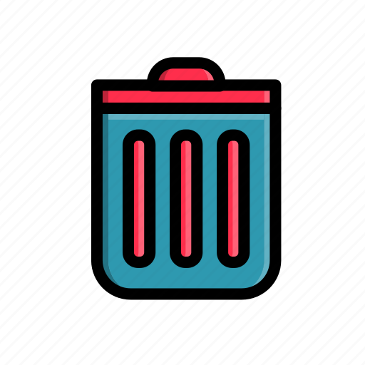 business, corporate, junk, office, trash can, work icon