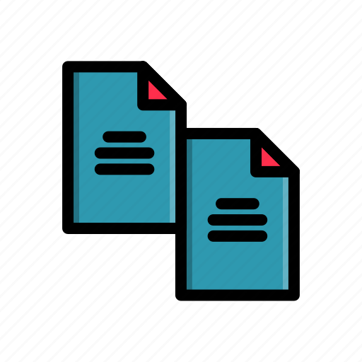 business, corporate, document, duplicate, file, office, work icon