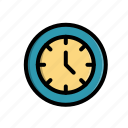 business, clock, corporate, office, time, work icon