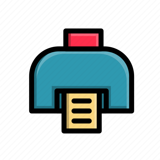 business, corporate, device, electronic, office, printer, work icon