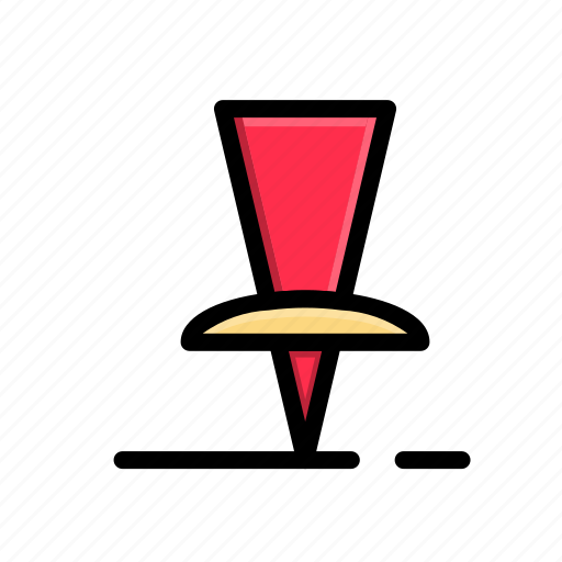 business, corporate, mark, office, pinned, work icon