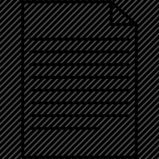 paper, receipt, script icon