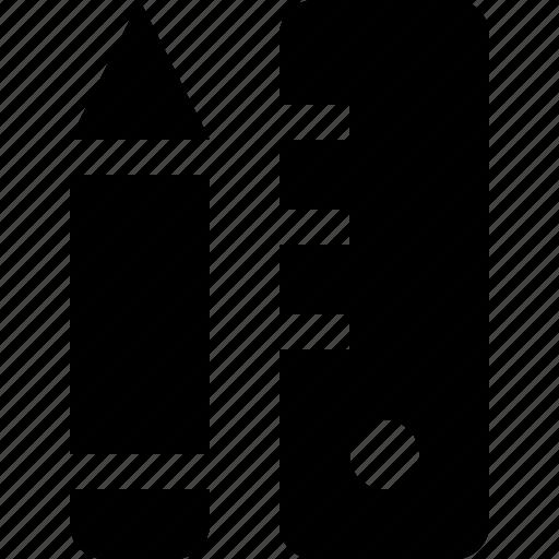 measure, pencil, ruler, write icon