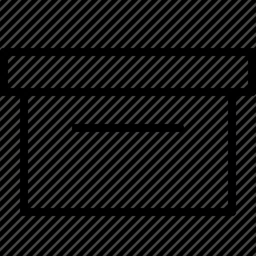 archive, box, case, deposit, parcel, storage icon
