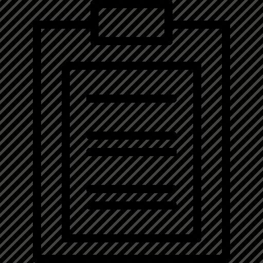 clipboard, document, paper icon