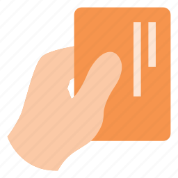 business, card, give, hand, hold, office icon