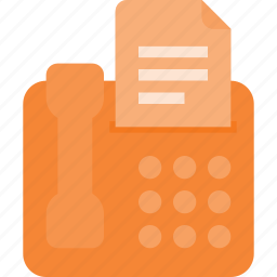 call, document, fax, office, phone, send icon
