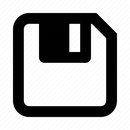 diskette, floppy disk, save, storage icon