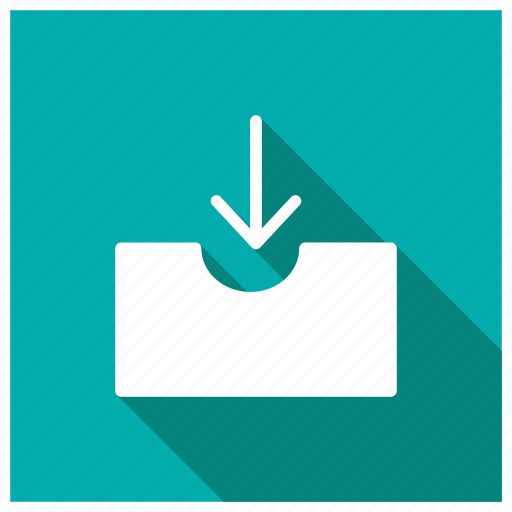 box, email, inbox, storage icon