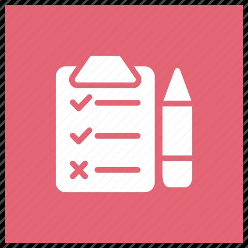 check, chose, list, tick icon