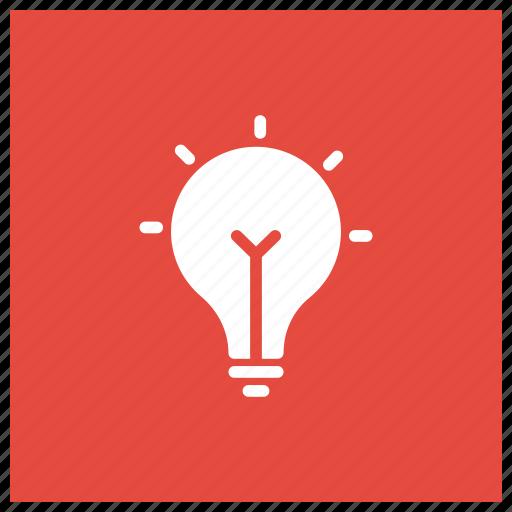 bulb, business, idea, light icon