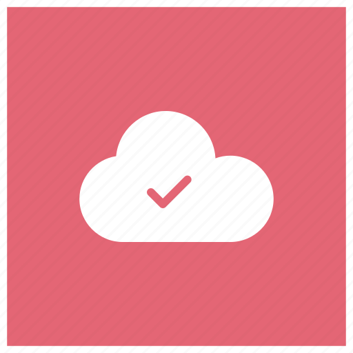 check, cloud, mark, ok icon