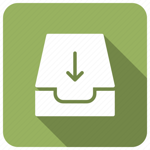 arrow, disk, download, files icon
