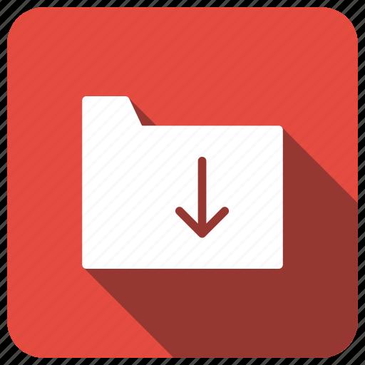 download, files, folder, storage icon