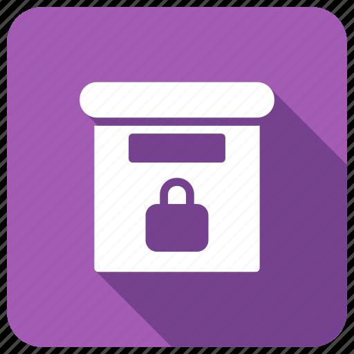 box, lock, safe, safety icon