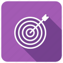 aim, circle, position, target icon