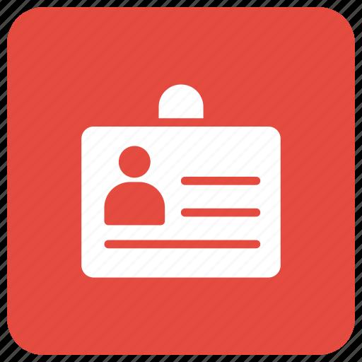 badge, card, id, identification icon