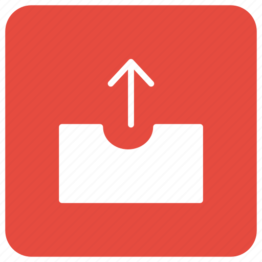 arrow, box, parcel, tool icon