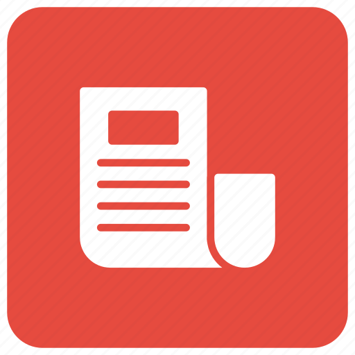 blog, newspaper, paper, survey icon