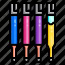 ball, office, pen, refill, stationary icon