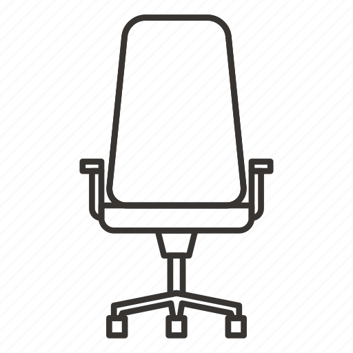 chair, furniture, home, interior, office, seat icon