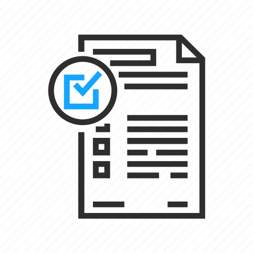 business, checkbox, office, survey icon