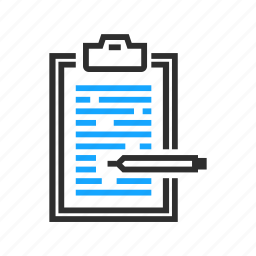 business, clipboard, edit, office icon