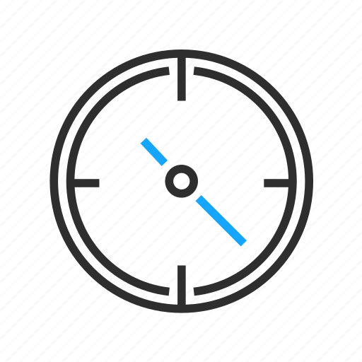 business, compass, gauge, office icon