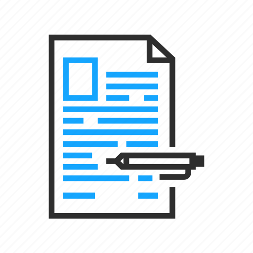 business, document, edit, office, pen icon