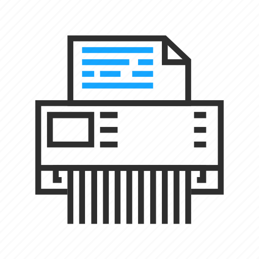 business, document, office, shredder icon
