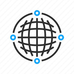 business, globe, network, office icon