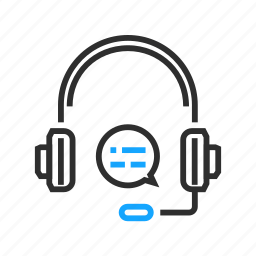 business, headphones, headset, office icon