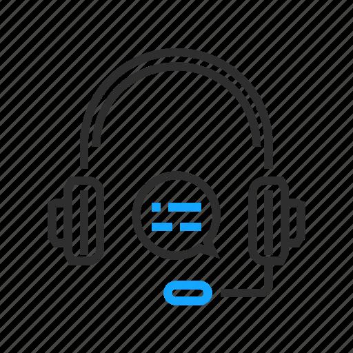 business, headphones, headset, office icon